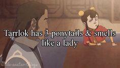 Tarrlok has 3 ponytails & smells like a lady