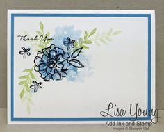 Flowers in Blue-Stamps: What I Love, Paper: Heavyweight Whisper White Paper Size: A2 Ink: Basic Black, Marina Mist   Read more: http://www.splitcoaststampers.com/gallery/photo/2702087#ixzz428cvGhAy
