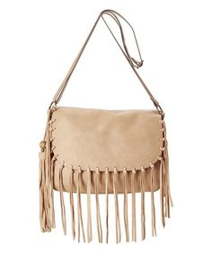 Love this Tan Fringe Crossbody Bag on #zulily! #zulilyfinds