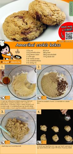 Amerikanische Schokoladenkekse Rezept mit Video - Schokokeks Rezept Do you want to bake real American chocolate chip cookies for your family? The American chocolate chip cookie recipe video is easy to find using the QR code :) # Biscuits chip cookies Chocolate Chip Cookies Recipe Video, American Chocolate Chip Cookies, Chocolate Cookie Recipes, Peanut Butter Cookie Recipe, Easy Cookie Recipes, Chip Cookie Recipe, Dessert Recipes, Classic Peanut Butter Cookies, Chocolate Cookies