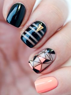 paulinaspassions:  Check out these negative space nails! I am...