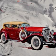 Discover and offer you one creation of collection MECAN IQUE from online MICHAUX's art gallery online Vintage Cars, Antique Cars, Draw On Photos, Decoupage, Car Painting, Old Cars, Online Art Gallery, Photo Art, Classic Cars