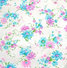 Vintage 1960s Fabric Spring Flowers by RebeccasVintageSalon, $10.00