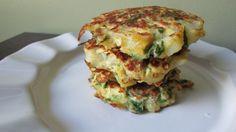 Potato spinach pancakes.