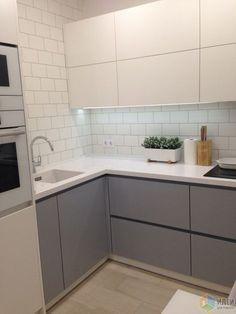 5 Ways to Optimize the Single Wall Kitchen Layout Design Kitchen Sets, New Kitchen, Kitchen Interior, Kitchen Decor, Kitchen Small, Mini Kitchen, Crazy Kitchen, Loft Kitchen, Kitchen Grey