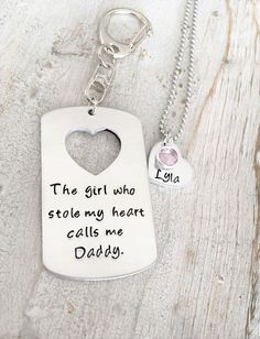 Daddy daughter gift sets, also known as father-daughter gift sets, are a phenomenal way for your little ones to show their love. This particular custom gift set features a key chain for dad and a matching necklace for his little princess (or for Mom if baby is too young). You can either customize the key chain with a special quote or receive the one pictured above but the result remains the same: Both recipients will be treated to an emotional present that will become cherished heirlooms for…
