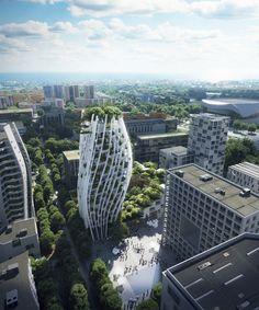 Green Architecture, Futuristic Architecture, Architecture Design, Modern Skyscrapers, Oscar Niemeyer, Santiago Calatrava, High Rise Building, Zaha Hadid, Texture Design
