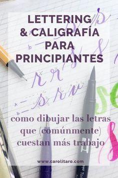 Videos explicando las letras que más trabajo cuesta dibujar cuando uno inicia el lettering #caligrafía #lettering Hand Lettering Fonts, Lettering Styles, Lettering Tutorial, Brush Lettering, Lettering Design, Typography, Lettering Ideas, Learn Calligraphy, Calligraphy Letters