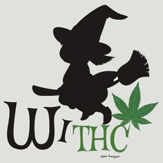 Funny Stoners Cartoon THC Witch Weed T-shirts, Clothing,Tablet Cases & Skins, Phone Cases & Skins Notebooks, Drawstring Bags,Mugs, Totes,Duvet Covers, Art Prints, and Stickers Design by Sago