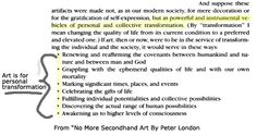 """Peter London From """"No More Secondhand Art"""" ~ Quote page August 17 in JOURNEY TO AUTHENTICITY: """"Making changes is as natural a human endeavor as speaking."""" Peter London"""