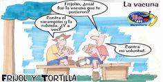 Frases, chistes, anécdotas, reflexiones, Amor y mucho más.: Chiste Frijol y Tortilla. La vacuna, Nuestro Diario Guatemala.