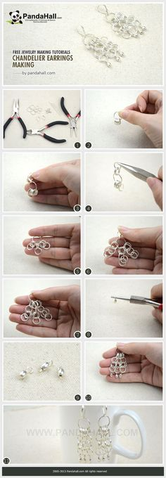 Free Jewelry Making Tutorial- Chandelier Earrings from pandahall.com