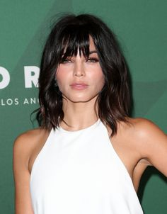 nice Makeover Alert: Jenna Dewan Tatum Has a New Look and It's Bangin' Casual Hairstyles, Pretty Hairstyles, Jenna Dewan, Make Up Black, Medium Hair Styles, Short Hair Styles, Mid Length Hair, Haircut And Color, Girl Haircuts