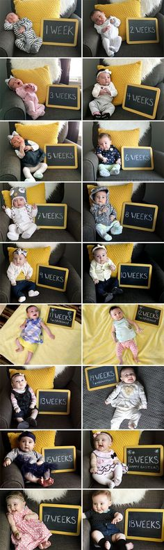 Watching Baby Grow // One Picture, Each Week, for One Year (via Bubby & Bean) Newborn Pictures, Baby Pictures, Baby Growth Pictures, Baby Monat Für Monat, Monthly Baby Photos, Foto Baby, Babies First Year, Newborn Baby Photography, Baby Family