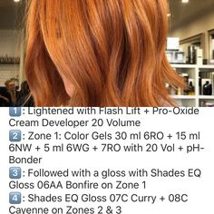 Redken Hair Color, Red Balayage Hair, Copper Red Hair, Redken Hair Products, Redken Shades, Hair Color Formulas, Hair Color Techniques, Strawberry Blonde Hair, Editorial Hair