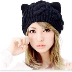 NWT! Cute cat ear beanie 1 left #catears #hat #black #one size #NWT  #thick. Price dropped from $20 to $15. Happy Black Friday.  let me know if ur interested in purchasing this beautiful thick cat ear hat. I will make u a separate list Accessories Hats
