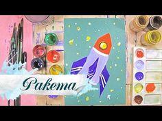 Как нарисовать ракету в космосе - урок рисования для детей от 4 лет, пастель, рисуем дома поэтапно - YouTube