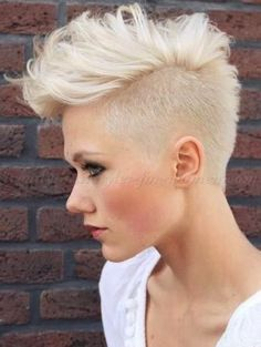 Image result for bright blonde undercut curly
