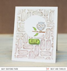 Neat & Tangled March Release Day 5: Whimsical Owl Cards
