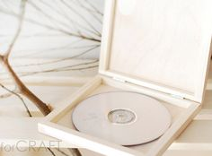 Single CD/DVD case wooden box  natural wood  for 1 CD by forCRAFT, zł30.00