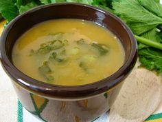 Sopa de grão fingida com grelos de nabo