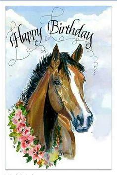 Used Happy Birthday Birthday Wishes For Friend, Happy Birthday Wishes Cards, Happy Birthday Quotes, Happy Birthday Images, Happy Birthday Horse, Happy Birthday Animals, Animal Birthday, Birthday Clips, Birthday Posts