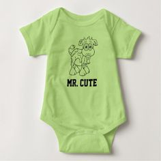 Mr. Cute - Baby Cow Boy With Pacifier - Body Suit Baby Bodysuit - shower gifts diy customize creative