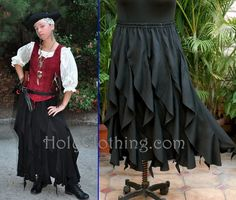 Valerie's daughter wore the TARA corset top and TALIA skirt as her Pirate costume
