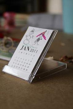 Mini-calendars. Fun gift idea, especially if you allow kids to decorate them. #babysitting #DIY
