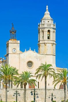 Church of Sant Bartomeu i Santa Tecla, Sitges, Catalonia, Spain Places Ive Been, Places To Visit, Catering Business, Sitges, Great Memories, Royalty Free Images, Highlights, Spain, Bucket