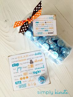father's day printable. I'm so glad when daddy comes home ... a great big KISS.