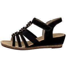 Rieker women sandal black K3356-01