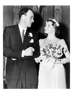Roald Dahl and Patricia Neal at their 1953 wedding.