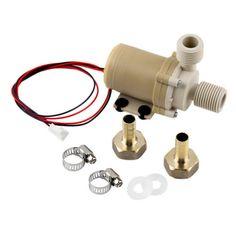 12V 3M Solar Hot Water Pump Circulation  Brushless Motor 212¡ã F w/ Coupler ZX