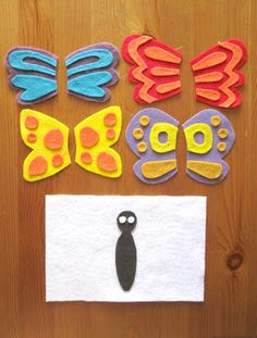 Butterfly felt quiet book pages