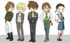 Gundam Wing ~~ Cute fanart [ LOG by ふじこ ] Cute Anime Boy, Anime Love, Art Pictures, Art Pics, Typical Girl, Gundam Seed, Gundam Wing, Create Image, Mobile Suit