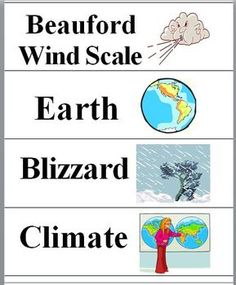 This Weather Word Wall file contains 36 WEATHER words and vocabulary terms printed on 9 pages. Each vocabulary word or term has a colorful illustra...