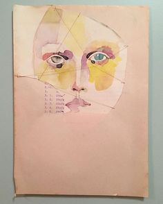 Diary 03/24/16 Control. ©Tina Berning 2016. #portrait #girlsoncheappaper #figurativeart #artonpaper #inkonpaper #collage #thread #stitching #foundpaper #papervintage