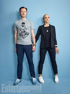 Comic-Con 2016 Star Portraits: Day 3 | Mark Gatiss and Amanda Abbington 'Sherlock' | EW.com