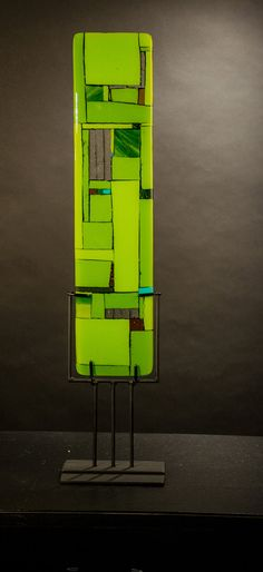 Windows Green by Vicky Kokolski and Meg Branzetti: Art Glass Sculpture available at www.artfulhome.com $450