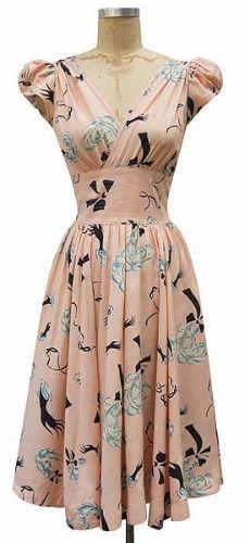 Vestido rosado años 50's
