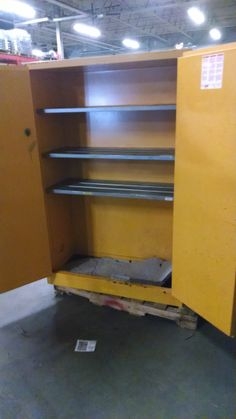 """Used cabinet 60 Gallon with 5 shelves 43""""W x 18""""D x 65""""H"""