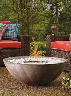 Enjoy your outdoor space, even during chilly fall nights with the Ecosmart Fire Bowl that provides warmth and beauty without smoke, soot or ash.