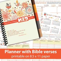 """I just finished putting together a planner for Christians! Are you looking for a planner that will enhance your spiritual and personal life? This """"treasure your everyday"""" yearly, monthly and weekly printable planner is filled with inspirational Bible verses. A 1-year chronological Bible reading plan is also integrated on each day.   Designing planner is a passion and also a calling. I hope you like my planners and they will be a blessing to you."""