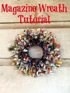 Magazine Wreath Tutorial  By EdgeOfInsanity  BlogHer