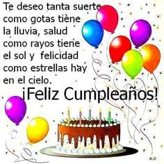 Happy Birthday In Spanish, Happy Birthday Music, Happy Birthday Wishes Photos, Happy Birthday Celebration, Happy Birthday Messages, Happy Birthday Quotes, Happy Birthday Greetings, Birthday Cake Gif, Good Night Messages
