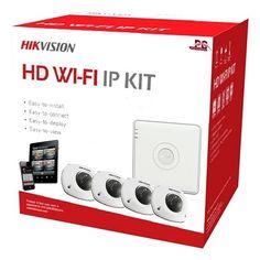HIKVISION WIFI IP Camera KIT 1  Spysecurityshop.nl biedt u een ideale systeem aan met optimale installatie gemak en toch HD beelden? Het kan met de WIFI kit van Hikvision. De beelden van de camera's zijn met de hoge kwaliteit die u van Hikvision gewend bent. Daarnaast zijn alle beelden lokaal en op afstand te bekijken op een PC/MAC tablet of telefoon. De NVR maakt een eigen WIFI netwerk waarin de camera's te koppelen zijn. Dit netwerk zal verder niet gebruikt worden door printers tablets…