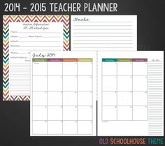 Teacher Planner Printables Now Available! - Happy Card Factory