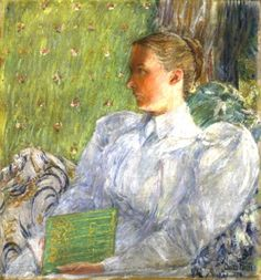 Portrait of Edith Blaney: 1894 by Childe Hassam (Orlando Museum of Art, Florida)