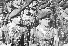 Soviet paratroopers on parade. The elite airborne formation of the Red Army were some of the first troops sent into Afghanistan as part of the invasion force in 1979. (US DOD), pin by Paolo Marzioli